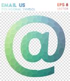Email polygonal symbol. Actual mosaic style symbol. lovely low poly style. Modern design. email icon for infographics or presentation Royalty Free Stock Photography