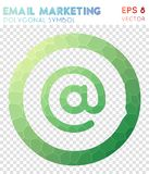 Email polygonal symbol. Actual mosaic style symbol. magnificent low poly style. Modern design. email icon for infographics or presentation Stock Photo