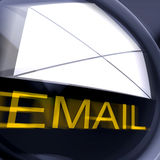 Email Postage Shows Sending And Receiving Web Messages Royalty Free Stock Photos