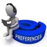 Email preferencj skrzynki pocztowa profilu położeń 3d rendering ilustracji