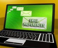 Email preferencj skrzynki pocztowa profilu położeń 3d rendering ilustracja wektor