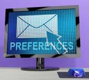 Email preferencj skrzynki pocztowa profilu położeń 3d rendering royalty ilustracja