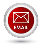 Email prime red round button Stock Photo