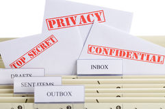Email Privacy Royalty Free Stock Photos