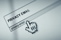 Email privacy Stock Images