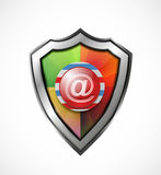 Email protection icon / shield Royalty Free Stock Image