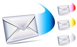 Email que llega con un whoosh stock de ilustración