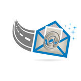 Email Received from Internet Road Logo Royalty Free Stock Images