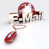 EMail-Rot Stockfoto