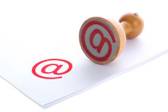 Email rubber stamp Royalty Free Stock Photography