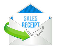 Email sales report illustration design Stock Photography
