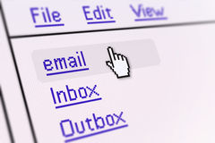 Email screen Royalty Free Stock Photography