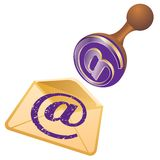 Email seal Royalty Free Stock Photos