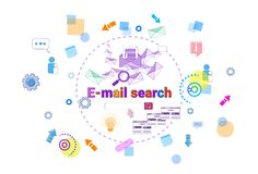 Email Search Banner Web Data Research Internet Concept Stock Photos