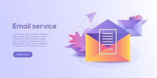 Email service isometric vector illustration. Electronic mail mes. Sage concept as part of business marketing. Webmail or mobile service layout for website vector illustration