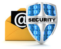 Email and shield Stock Photography