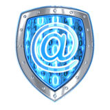 Email and shield Royalty Free Stock Photo