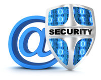 Email and shield Stock Image