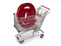 Email in a shopping cart Stock Image