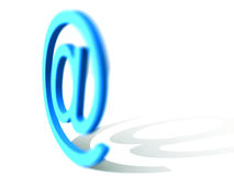 Email Sign. 3d rendered email sign - internet design Royalty Free Stock Image