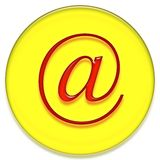 Email sign Royalty Free Stock Images