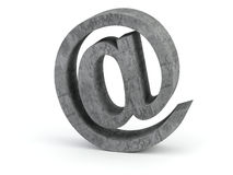 Email sign. Made out of stone Stock Photo