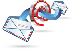 Email sign Stock Photo