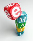 Email sign 3d colorful buzzword tower Royalty Free Stock Photography