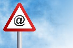 Email sign Royalty Free Stock Photography