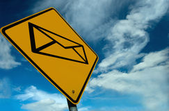 Email Sign Stock Photography