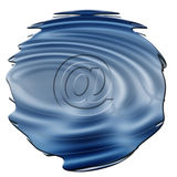 Email sign. Blue email sign Royalty Free Stock Photos