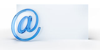 Email sign background Royalty Free Stock Image