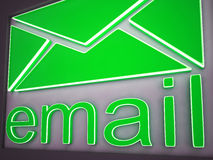 Email Sign Button Showing Online Communication Stock Photography