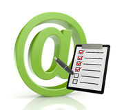 Email sign with clipboard Stock Images