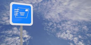 Email sign and cloudscape Royalty Free Stock Photography