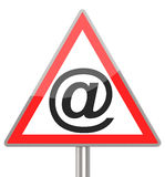 The email sign Royalty Free Stock Photos