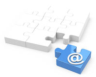 The email sign. 3d generated picture of an email concept royalty free illustration