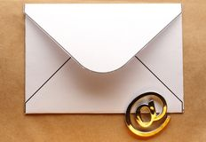 Email sign on envelope Royalty Free Stock Photo