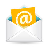 Email sign and envelope Stock Photos