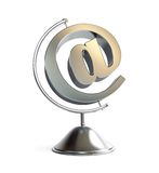 Email sign globe 3d Illustrations Royalty Free Stock Photos