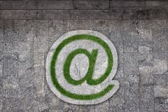 Email sign in grass Stock Image
