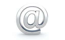 Email sign icon on the white. Royalty Free Stock Images