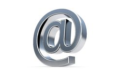 Email sign icon on the white. Stock Photos