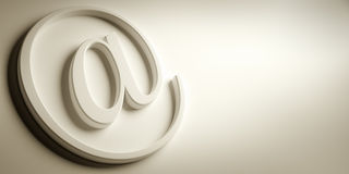 Email sign Royalty Free Stock Photo