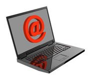 Email sign on laptop screen Royalty Free Stock Images