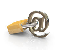 Email sign with lock Stock Image