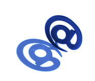 Email sign with real shadow Royalty Free Stock Images