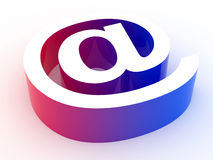Email sign. Rendered image. Gradient email symbol isolated on a white ground Stock Photos