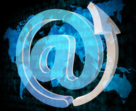 Email Sign Shows Send Message And Communicate Royalty Free Stock Image