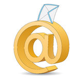 Email sign. Vector illustration of 3d email sign Stock Image